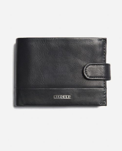 RIP CURL MENS WALLET.HORIZONS CLIP FAUX LEATHER BLACK MONEY NOTE PURSE 9W A1 9